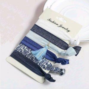 Élastiques Bleus Pour Cheveux
