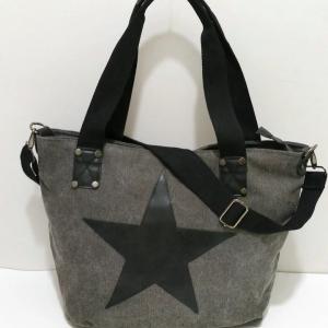Sac étoile gris