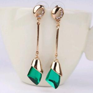 Boucles d'oreilles cristal vert