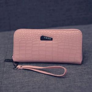 Portefeuille rose pâle