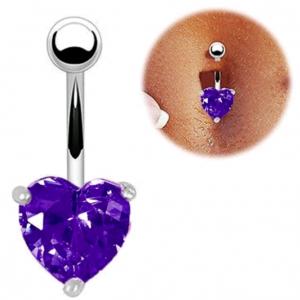 Piercing Cœur Violet