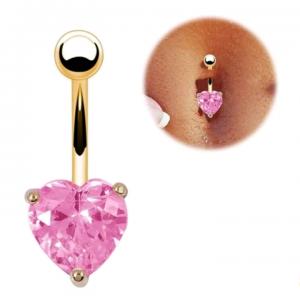 Piercing cœur rose